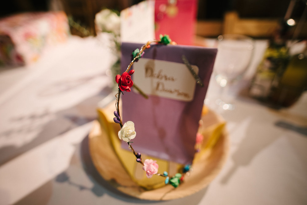light up flower crown wedding