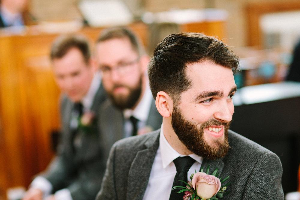 the groom awaits