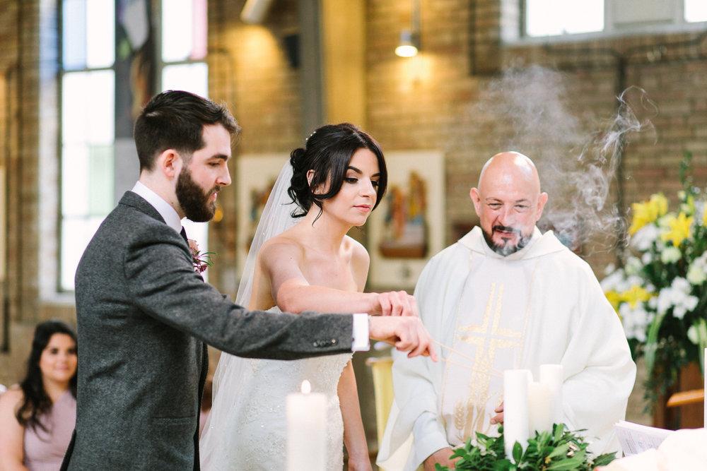 lighting the wedding candle
