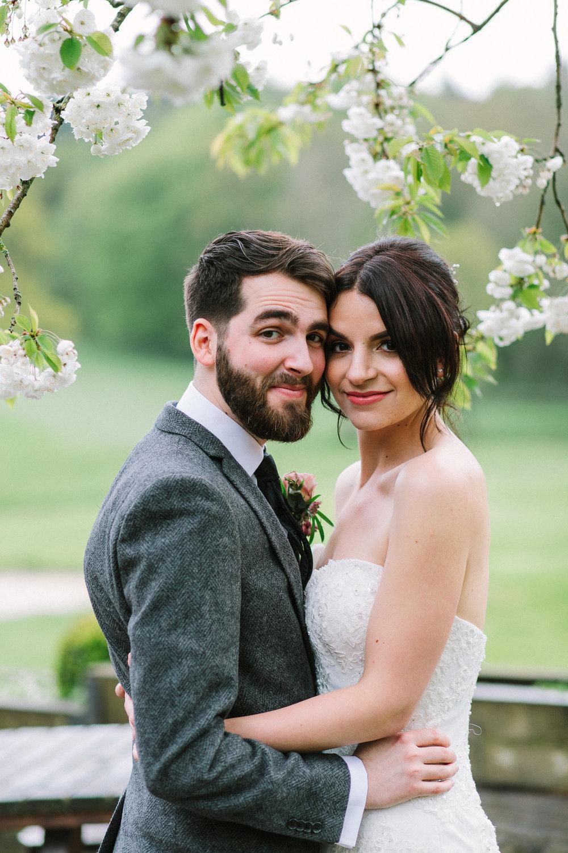 wedding photos in blossom
