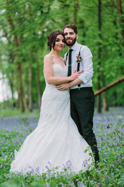 wedding photos in bluebells