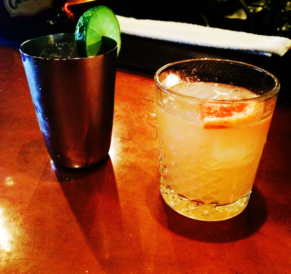 Mogul Mule (left) and  Midwest Sunset (right);  both concocted for Mogul by Ball & Biscuits very own Kendall Lockwood