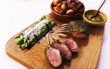 Lamb with Chimichurri Crust
