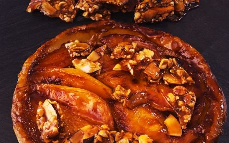 Mango Tarte Tatin with Coconut & Peanut Brittle