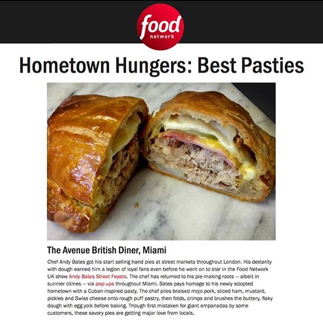 I'm back on Food Network! Well kinda... 😉 link in bio Our #cubanpasty making waves in #Miami #YES @theavenuemiami @foodnetwork @foodnetworkuk #pasties #pastrychef #chef #foodnetwork
