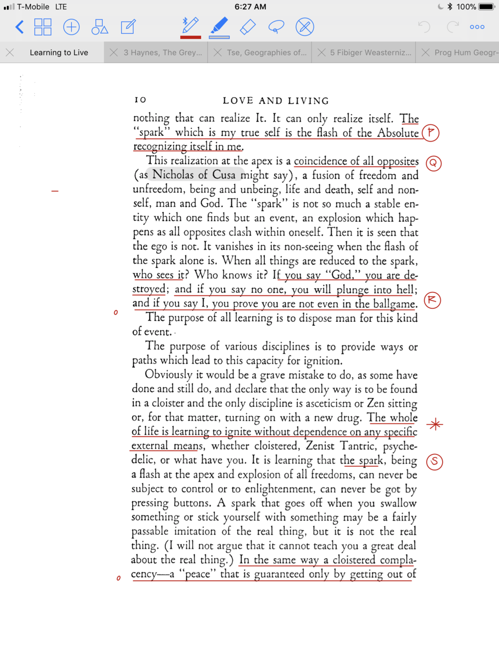 The above image is a page from Thomas Merton's book, Love and Living. I  would like to use it as a reference to demonstrate how I'm annotating my  academic ...