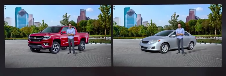 Truck Guy and Sedan Guy from Chevy Colorado Commercial
