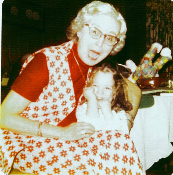 Me and my Granny, Christmas morning circa 1973/1974-ish