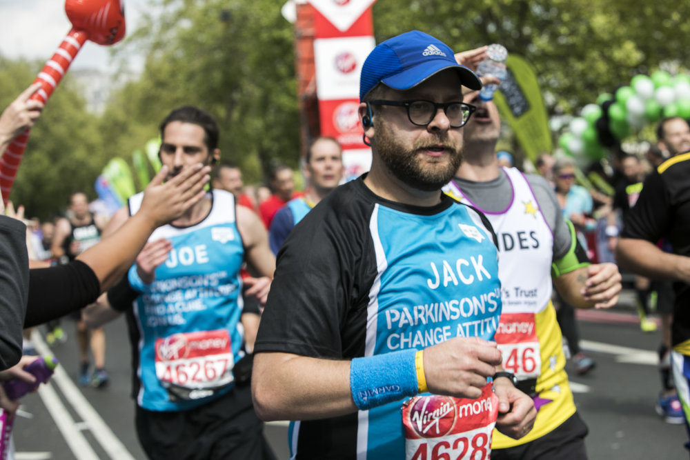 Let's Get Running runner Jack Warner smashing his target at last years London Marathon
