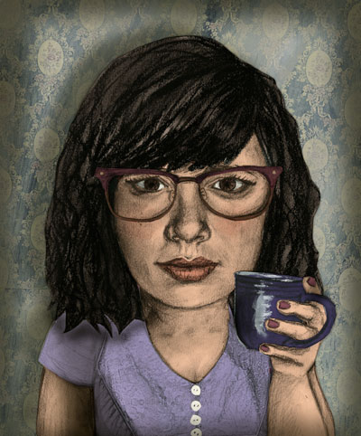 a self portrait i did for my website i just made! (ameliajude.com)