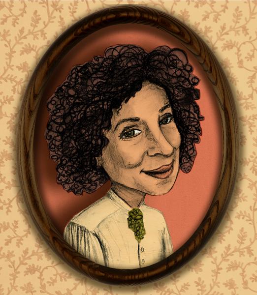 new portrait of the wonderful, fabulous, Margaret Atwood!