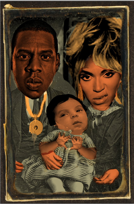 color comp for my next piece. please ignore blue ivy's frankenbaby face and hands