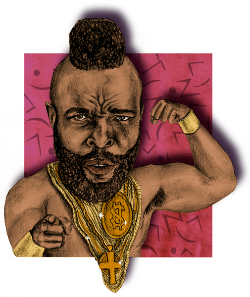 Spot illustration of everyone's favorite member of the A-Team, Mr. T.