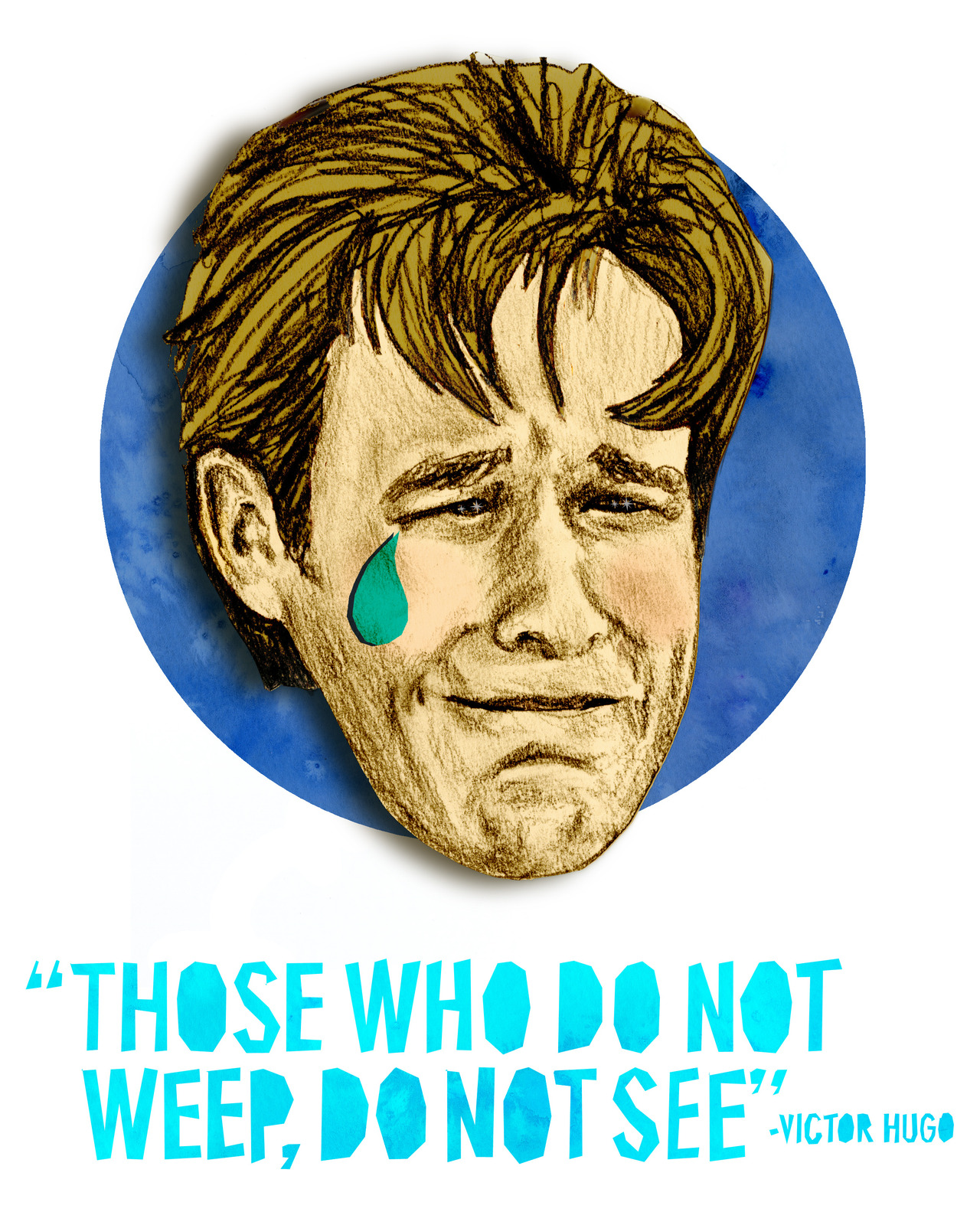 Famous Ugly Crier #2: James Van Der Beek (Dawson Leery).   (Part of my latest illustration series)