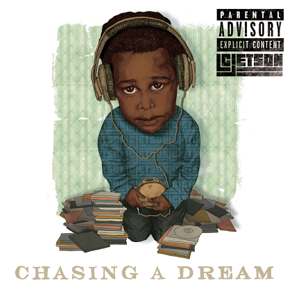 "I just finished up an album cover for local Portland rapper L.C. Jetson. His album ""Chasing A Dream"" drops this summer. Check him out  Yo !"