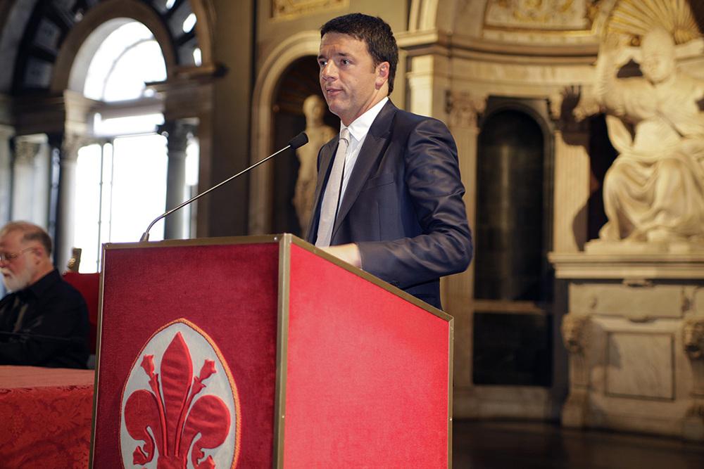 Matteo Renzi all cerimonia di premiazione