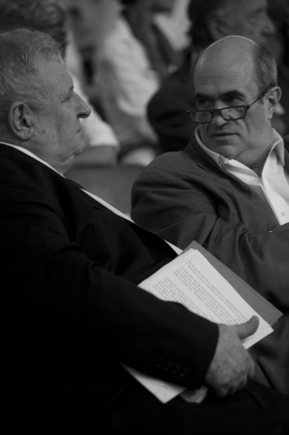 Edmund White and Colm Toibin