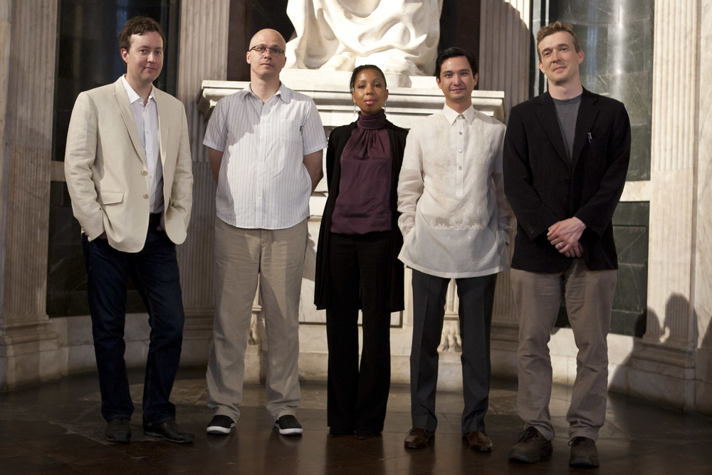 Finalists Wells Tower, Alexander Hemon, Marie NDiaye, Miguel Syjuco and David Mitchell