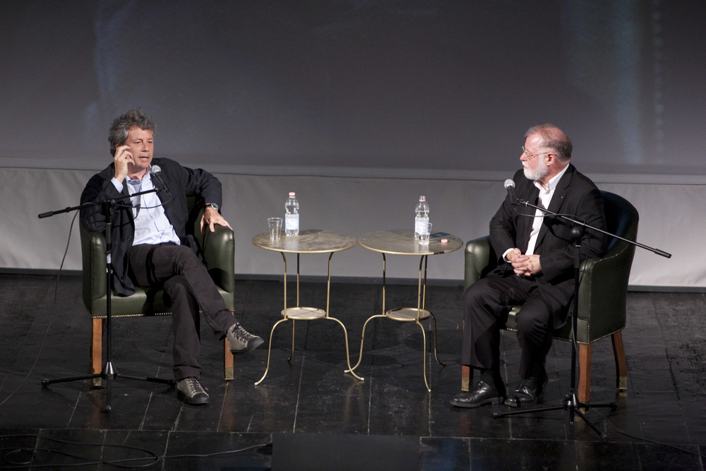 Alessandro Baricco and Alberto Manguel