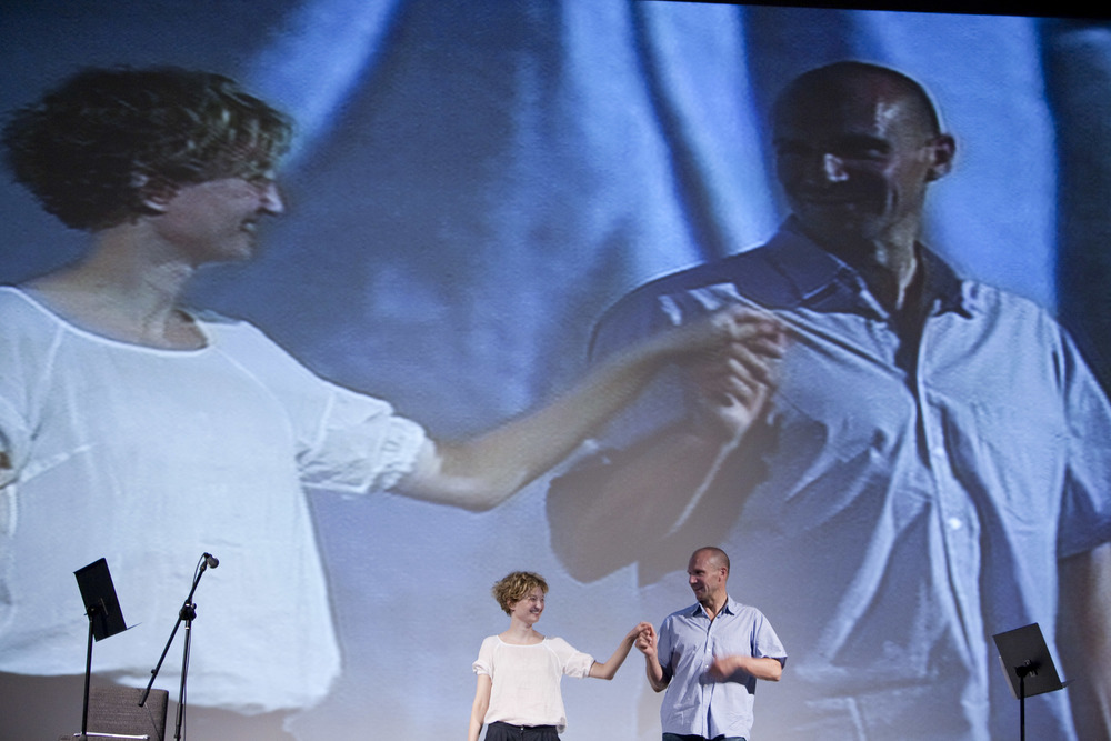 Alba Rohrwacher and Ralph Fiennes perform at the Cinema Odeon