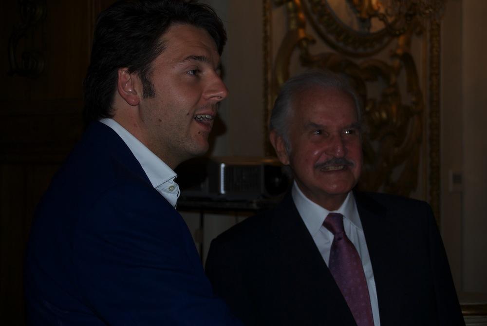 Matteo Renzi and Carlos Fuentes