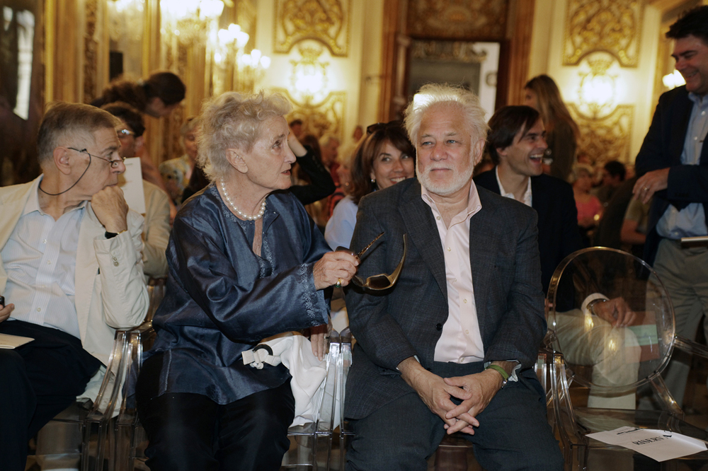 Beatrice Moni con Michael Ondaatje