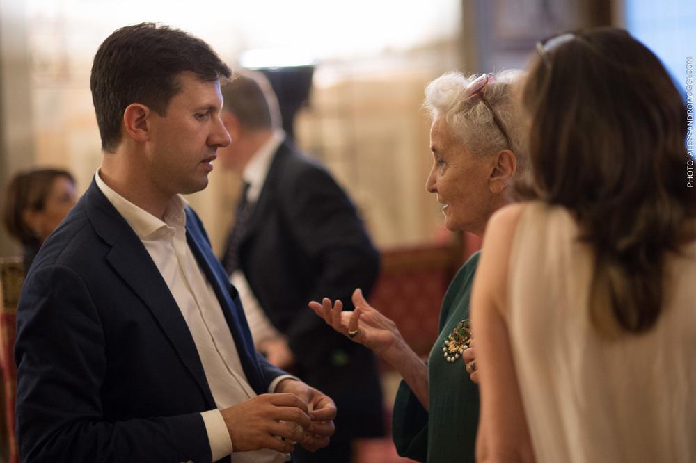 Beatrice Monti della Corte con Sindaco di Firenze Dario Nardella
