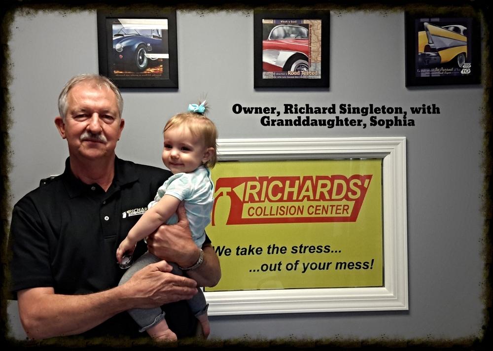 Richard Singleton, Owner, with Granddaughter, Sophia