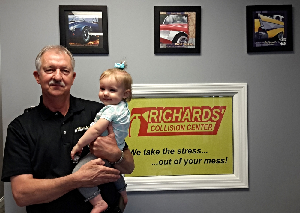 Richard Singleton, Owner, with, Granddaughter, Sophia