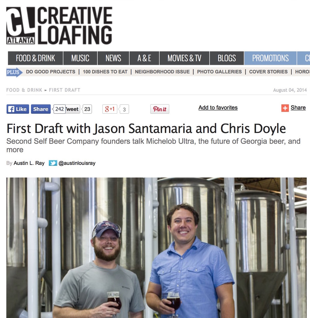 Creative Loafing Atlanta,   August 4, 2014,  First Draft with Jason Santamaria and Chris Doyle