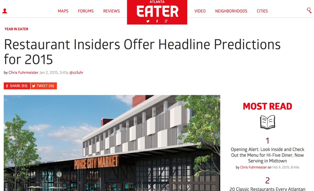 Eater Atlanta,   January 2nd, 2015,     Restaurant Insiders