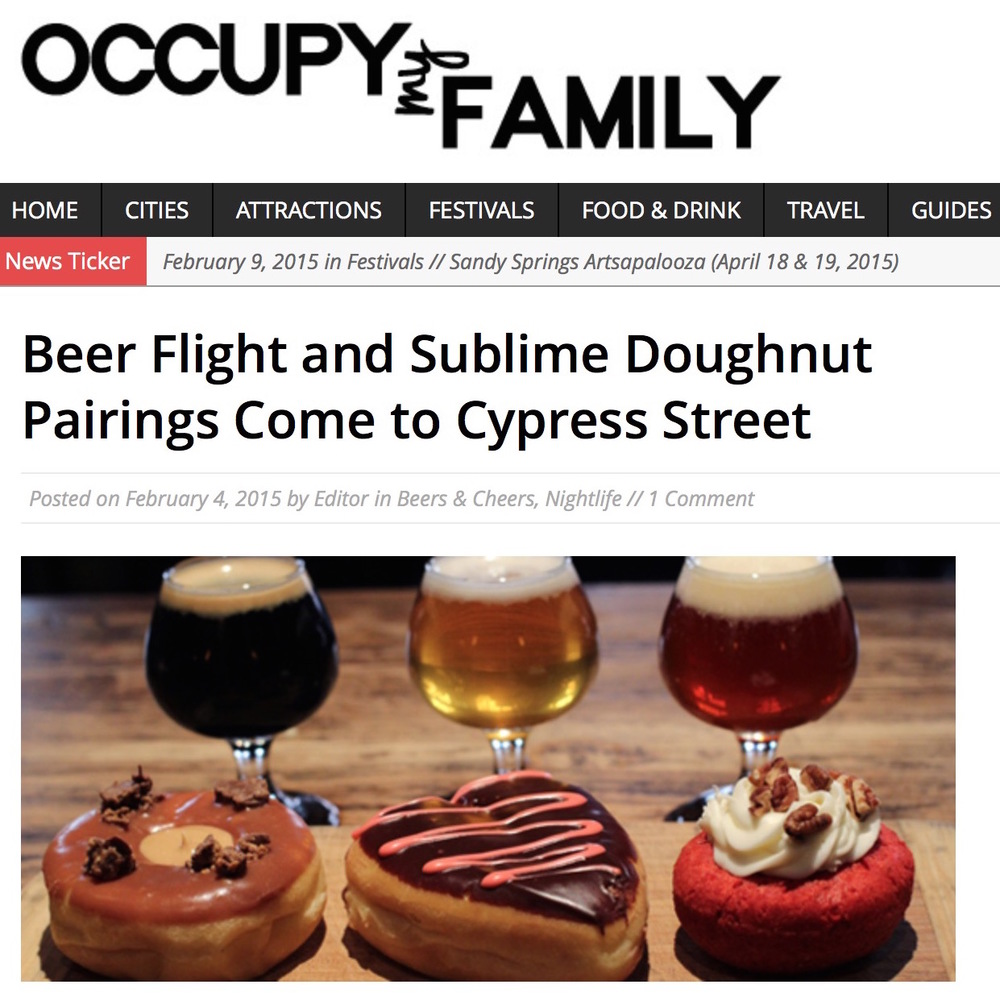 Occupy My Family,  Beer + Doughnut Flight at Cypress Street , February 4th, 2015