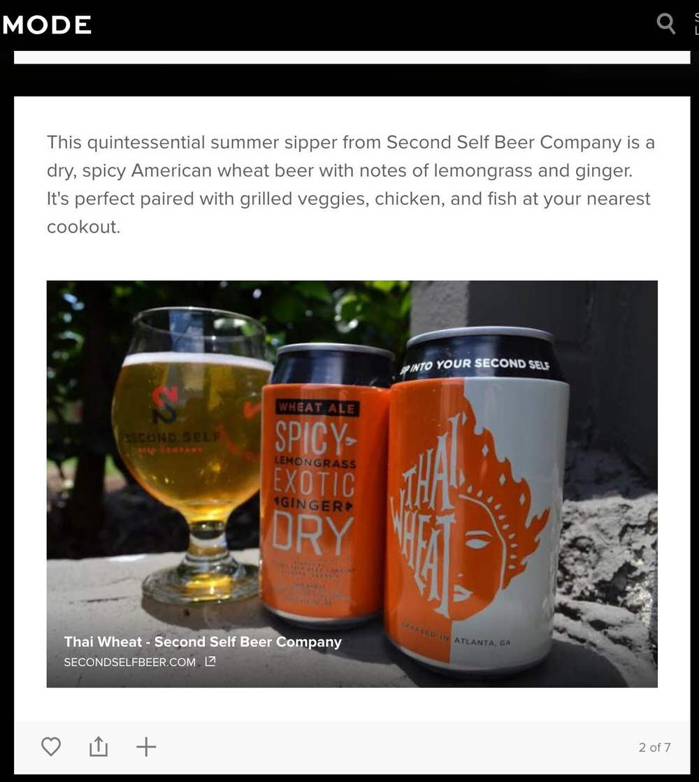 "Mode.com    , June 29th, 2015,  ""It's in the Can: Toast Summer With These Atlanta Brews"""