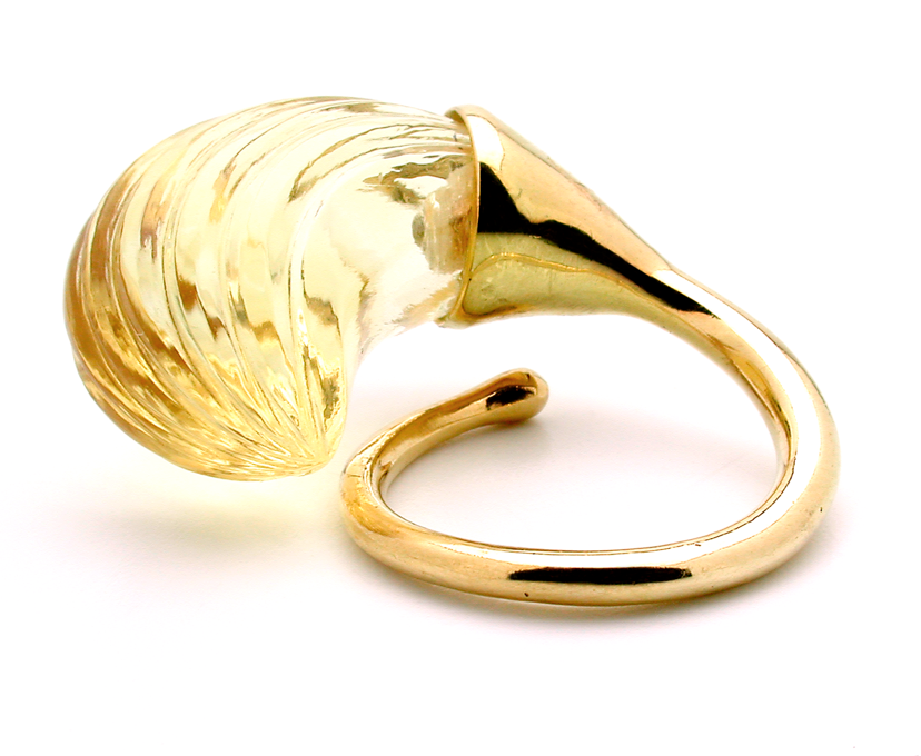 Gurmit Campbell's Rosebud Ring in 18 carat gold and citrine.