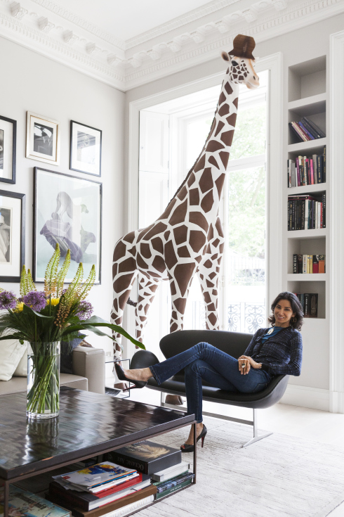 A giraffe in the living room, multi-coloured staircase and neon Union Jack in the loo. Gurmit Campbell's London flat is not for the fainthearted, writes Cheryl Markosky. http://blog.primelocation.com/tag/gurmit-campbell/
