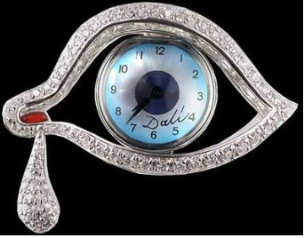 Salvador Dali Eye of Time Brooch
