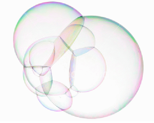 Inspiration from the soap bubble structure.