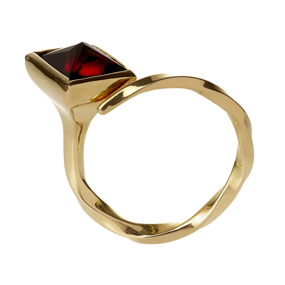 Betwix and Between , 18K Gold and Ruby