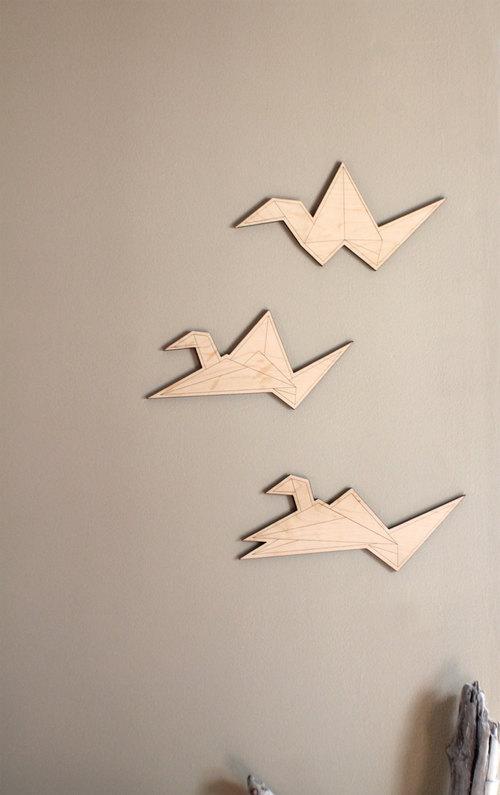 Origami Crane Wall Hanging Set