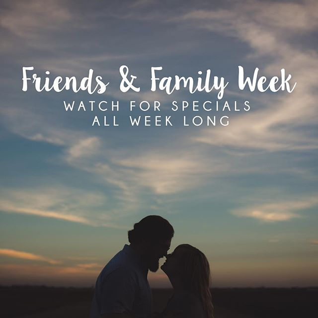 Happy Friends & Family week! I've been feeling so stinking grateful for this job and wanted to say thank you to those of you who make it possible! So in an effort to do so, watch for some major deals this week, with the first one announced at 9 am today! ❤