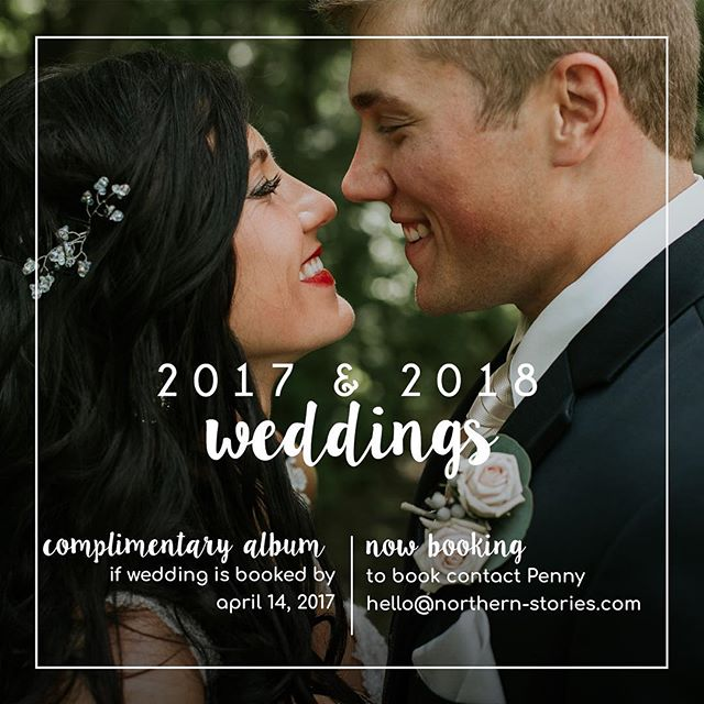 Are you getting married? Well have I got a deal for you! Book with me this week and receive a complimentary wedding album! Email me for more info.