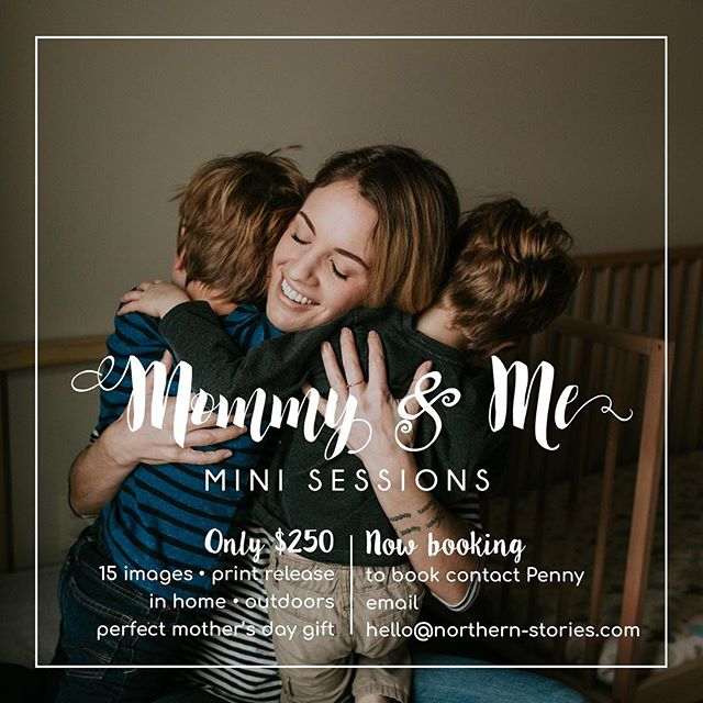 Wondering what today's friends and family special is?! Wonder no more!  This offer is valid on any mommy and me session booked in April!