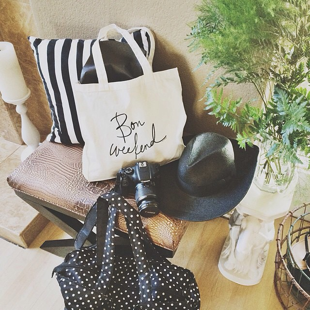 The Bon Weekend tote styled up by Lauren Saylor of a fabulous fete!