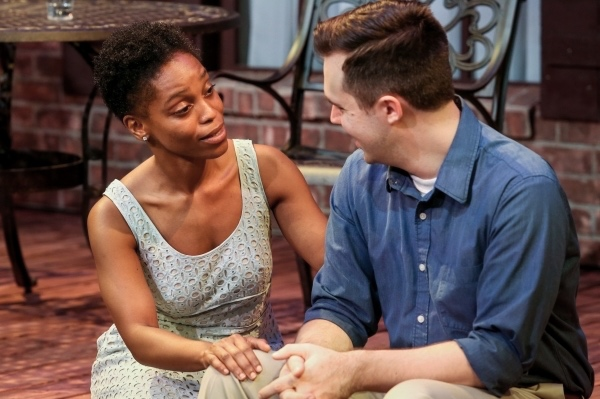 Nastassja Whitman as Ann & Chase Byrd as Chris in ALL MY SONS at Curio Theatre Company– Photo by Rebecca Gudelunas