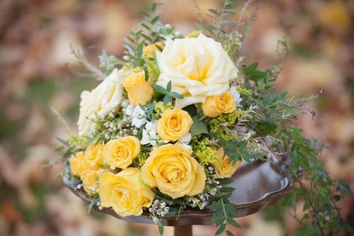 yellow rose bouqet