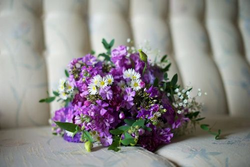 purple wild flower bouquet
