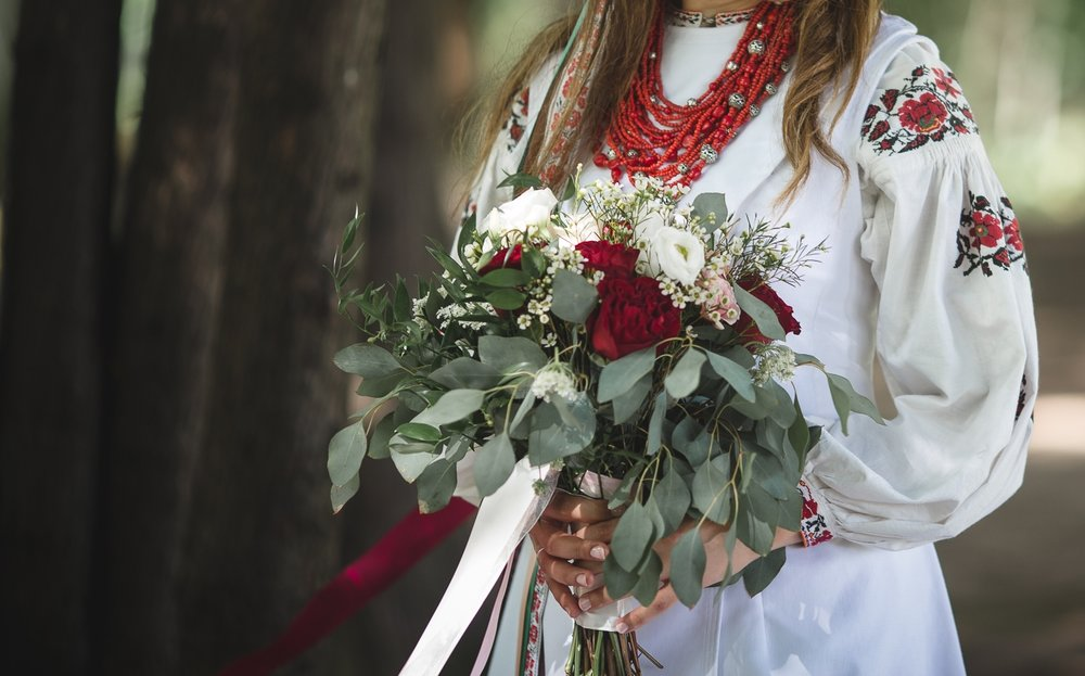 Red and White winter bouquet