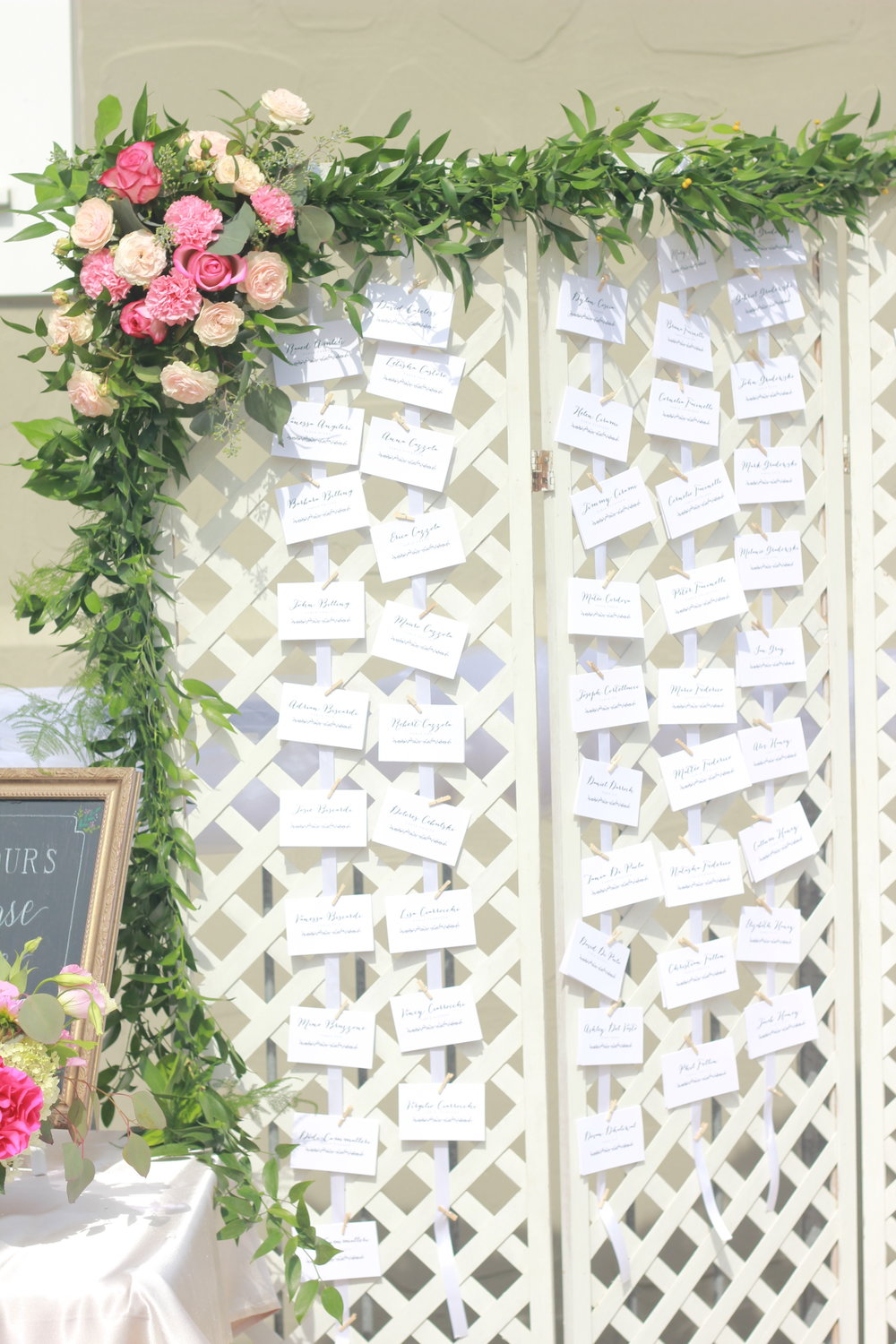 seating chart decor