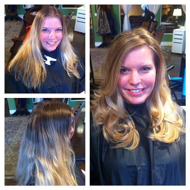 Before and After haircut/color💇fresh spring look 🌼 #alibithesalon