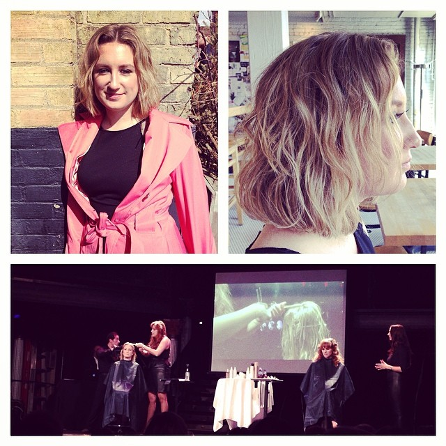 Kevin Murphy Hair Show today! Our lovely Morgan modeled for a stunning bob haircut! #bornforthatbob